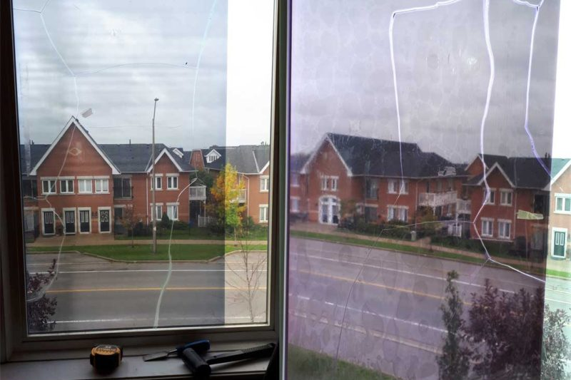 window film cracked glass